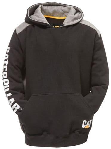 Caterpillar Logo Panel Hooded Sweatshirt Sweat Shirts Black